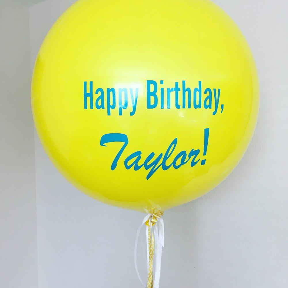 yellow jumbo balloon