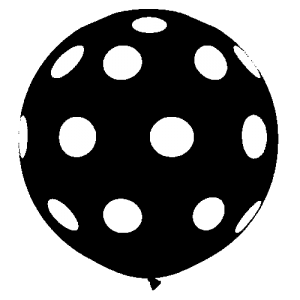 polka dot balloon monochrome