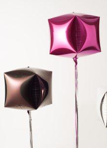 brown pink Mylar balloons