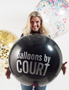 courtney with balloon