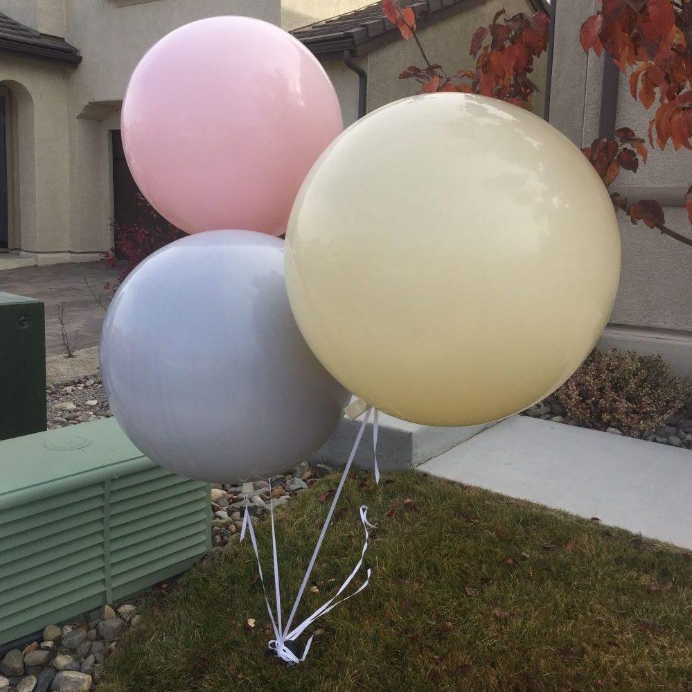 pastel giant balloons